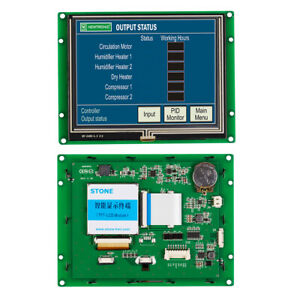 5 6 Inch Resistive Hmi Touch Panel Lcd Display With Controller serial Uart Port