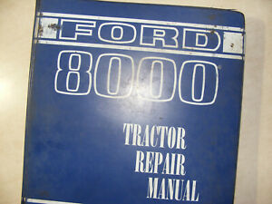 Ford New Holland 8000 9000 Series Tractor Service Shop Repair Manual Book