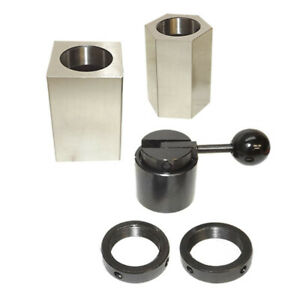 Set Of 5 Pc 5c Hex Square Closer Rings Collet Block Chuck Milling Lathe Surface