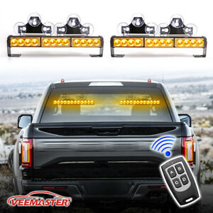 36 Emergency Strobe Warning Light Bar With Display Screen Controller White Red