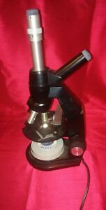 Bausch Lomb Microscope With 3 Objectives 10x And 45x Plus 100x And Light