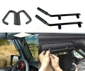 For 07 17 Jeep Wrangler Jk 2 4d Front rear Solid Steel Side Door Grab Handle Bar