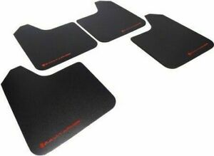 Rally Armor Basic Universal Fitment Mud Flaps Set Of 4 W Red Logo Lettering New