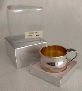 Vintage 1970s Baby Cup Community Silverplate Oneida Original Box