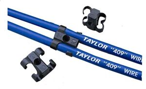 Taylor 42609 Black 409 Pro Wire 10 4mm Spark Plug Wire Separators 4 Pack