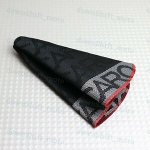 Jdm Recaro Racing Hyper Fabric Shift Knob Shifter Boot Cover Mt At Red Stitches