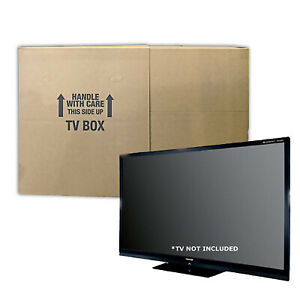 Uboxes Tv Moving Box Flat Screen Fits Tv s 32 To 70 Adjustable Heavy duty 6 W