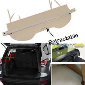 Rear Trunk Upgrade Beige Security Cargo Cover Shade For Ford Escape 2013 2019