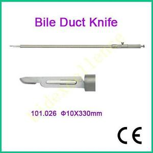 10mm Medical Bile Duct Knife 10x330mm Laparoscopy Needle10mm Forceps Best Fda