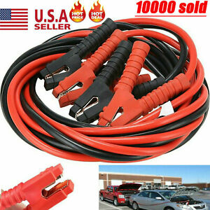 1200amp 1 Gauge 20ft Booster Cables Power Start Jumper Heavy Duty Car Van New Us