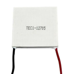 1pc Tec1 12705 5a 12v Heatsink Thermoelectric Cooling Plate Module 40x40mm