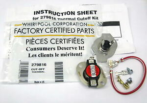 Oem Fsp Whirlpool 279816 Dryer Thermostat And Thermal Fuse