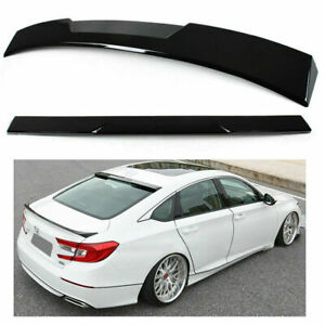 For 2018 2019 Accord 10th Gen Sedan Vip Glossy Black Rear Window Roof Spoiler
