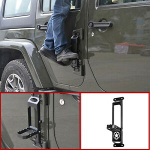 Folding Car Roof Foot Pedal Ladder Accessories For 2018 2019 Jeep Wrangler Jl