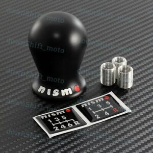 For Nissan Nismo Duracon Racing Gtr G35 G37 R35 Altima S13 S14 Black Shift Knob