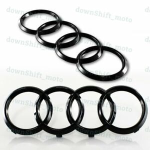 1 Set Black Audi Grill Front Rear A1 A3 A4 S4 A5 S5 A6 S6 Sq7 Tt Badge Emblem