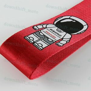 Jdm Red High Strength Asimo Racing Tow Strap For Front Rear Bumper Fits Honda