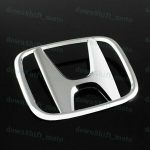 New Chrome Rear Trunk h Emblem Badge For 2013 2015 Honda Civic Sedan 4dr Dx Si