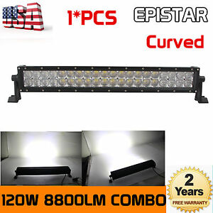 4d 22inch 120w Combo Led Light Bar Off road Driving Lamp Suv Boat 4wd Atv Truck