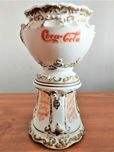 Coca-Cola 1960's-1970's Ceramic Pencil Holder Made in Japan Coke Can Sign