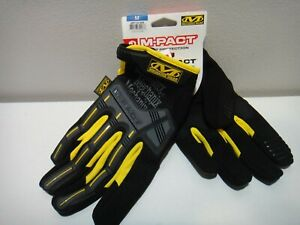 Mechanix Wear M pact Impact Protection Plm Padded Gloves Black Yellow Size Md
