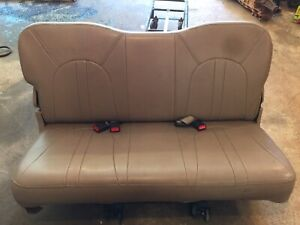 2000 Ford Expedition Rear 3rd Third Row Seat Assembly Tan Leather