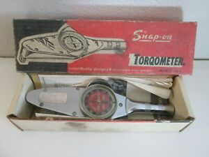 Snap On Torqometer Model Te 12 Complete With Box And Paperwork Vintage