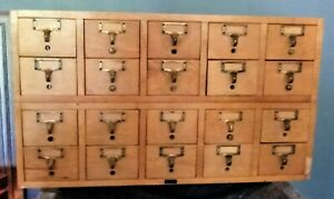 Vintage 20 Drawer Library Card Catalog