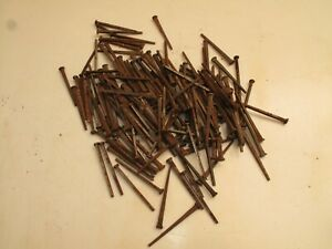 Antique Square Cut Nails 3 Long About 184 Nails Or 3 5 Lbs