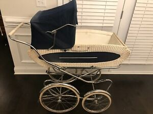 Vintage Perego Baby Stroller Baby Carriage Pram Blue White