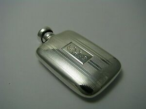 Art Deco Sterling Silver Perfume Bottle Scent Flask The Thomae Co 1940s Mono Rke