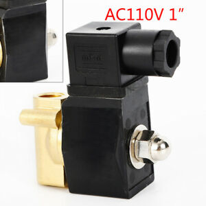 110v Electric Solenoid Valve Switch Water Air 1 Brass Normally Closed N c Best