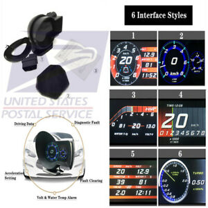 Digital Obd2 Car Hud Head up Display Multi Gauge Display Gauge Boost Scan Tool