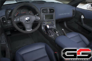 2012 C6 Corvette Black Suede Steering Wheel With Blue Stitching