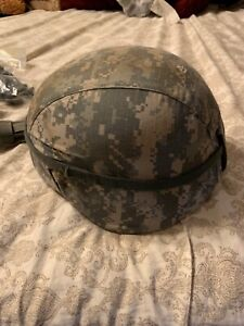US MILITARY ISSUE ACH ADVANCED COMBAT HELMET ACU MSA LARGE  L4 Chinstrap  Pads