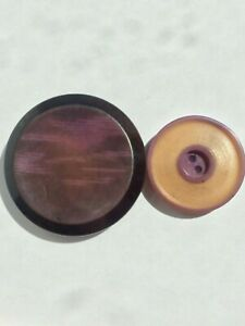 2 Amazing Purple Tagua Nut Vegetable Ivory Buttons
