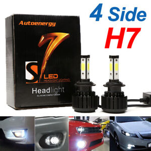 2x H7 Led Headlight 300000lm Bulbs Kit 6000k White For Vw Polo Golf Scirocco