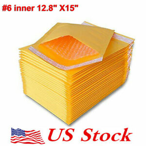 Us Mailers Padded Envelopes Self seal Packaging Bubble Lot 6 Inner 12 8 x15