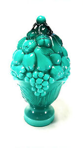 Antique Glass Newel Post Finial Victorian Cased Glass Newel Post Topper C1900