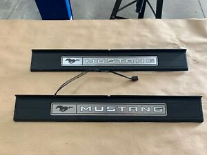 2015 2019 Ford Mustang my Color Scuff Plates Interior Trim Black Oem
