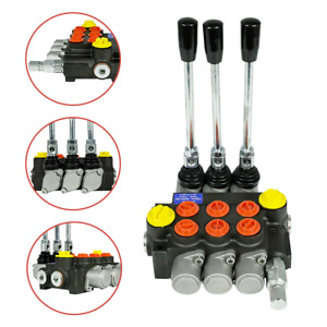 3 Spool Hydraulic Directional Control Valve 13gpm 3600psi Manual Control New