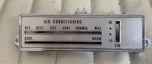 1970 Gm Olds Oldsmobile Cutlass 442 Air Heat Control Panel Ac Oem