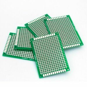 4x6cm 100pcs Glass Fiber Double Side Universal Printed Prototype Circuit Board