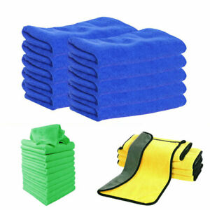 Pack Absorbent Microfiber Towel Car Home Kitchen Washing Cleaning