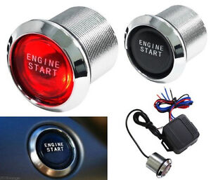 Auto Red Led Car Keyless Engine Start Push Button Switch Ignition Starter Kit12v