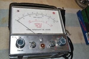 Rca Wv 74a High sensitivity Ac Vtvm amplifier Vacuum Tube Voltmeter Pro Serviced