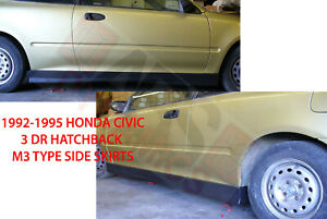 M3 Style Side Skirt Set For 1992 1995 Honda Civic 2 3dr Unpainted Polyproplyene