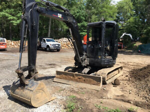 2006 Caterpillar 304cr Mini Excavator W Cab Hydraulic Thumb Only 2300 Hours