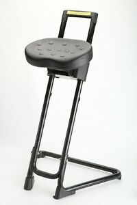 Lyon Portable Sit stand Office Desk Chair Stool Industrial Minimal Model 2092
