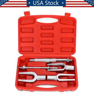 5pc Tie Ball Joint Rod Pitman Arm Tool Separator Remover Kit And Pickle Fork Set